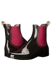M Missoni - Ankle Rain Boots, Black with Red Trim
