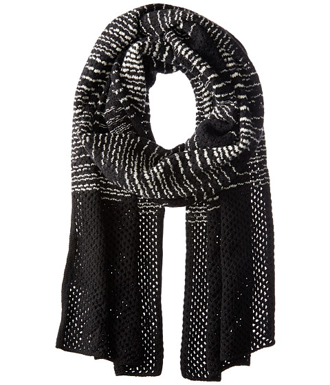 M Missoni Spacedye Scarf with Solid Border - Black