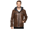 Scully Karl Leather Jacket with Zip Out Hoodie