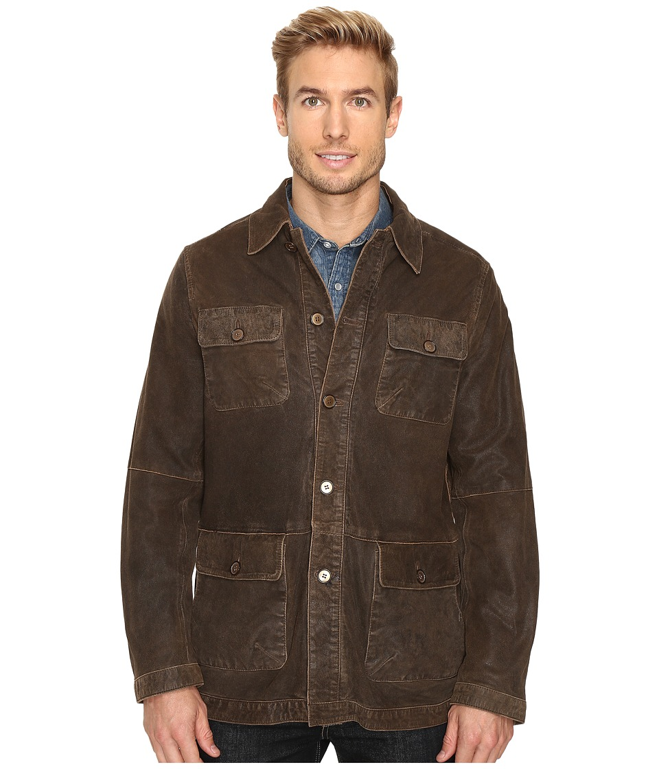 Scully Manor Mansion Goatskin Coat (Brown) Men's Coat