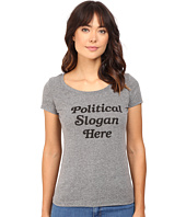Rachel Antonoff - Political Slogan Here Scoop Neck Tee