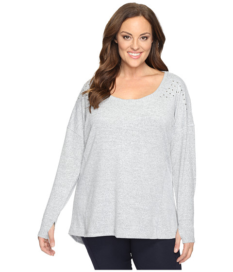Marika Curves Plus Size Alexis Heather Studded Long Sleeve
