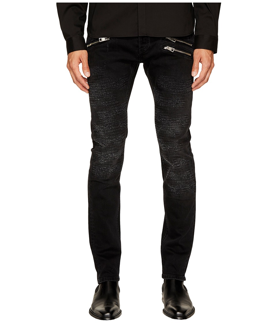 Just Cavalli Destroyed Zipper Jeans (Black) Men