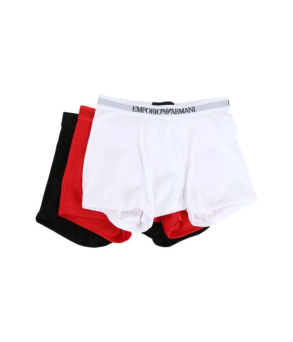 Emporio Armani - 3-Pack Boxer Brief (White/Red/Black) Men...