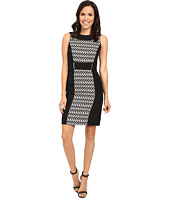 Tahari by ASL - Ikat Print Paneled Sheath w/ Hardware