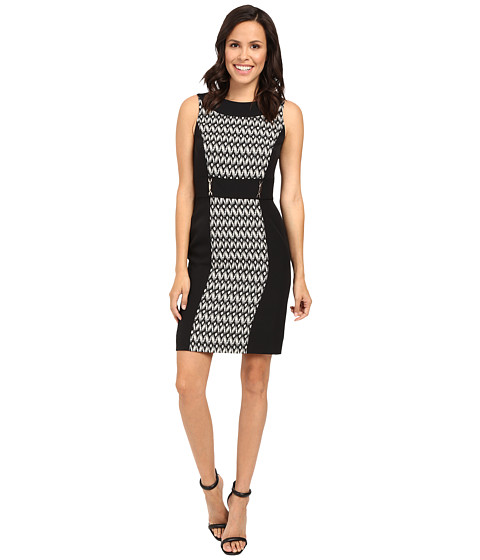 Tahari by ASL Ikat Print Paneled Sheath w/ Hardware