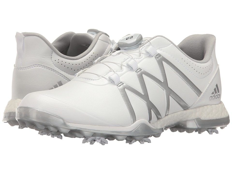 Image of adidas Golf - adiPower Boost Boa (Ftwr White/Matte Silver/Matte Silver) Women's Golf Shoes