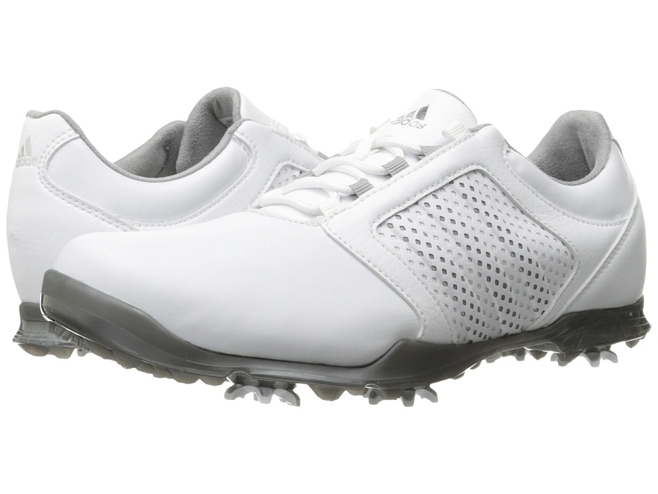 Adidas Golf - Adipure Tour (Ftwr White/Light Onix/Iron Me...