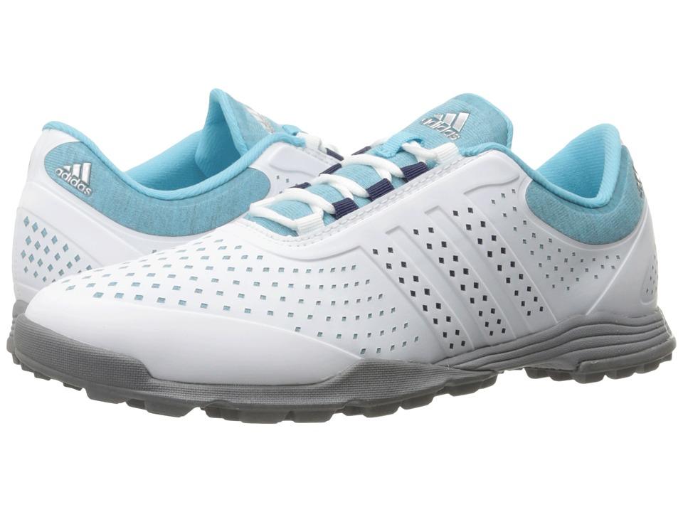 Image of adidas Golf - Adipure Sport (Blue Glow/Night Sky/Dark Silver Metallic) Women's Golf Shoes