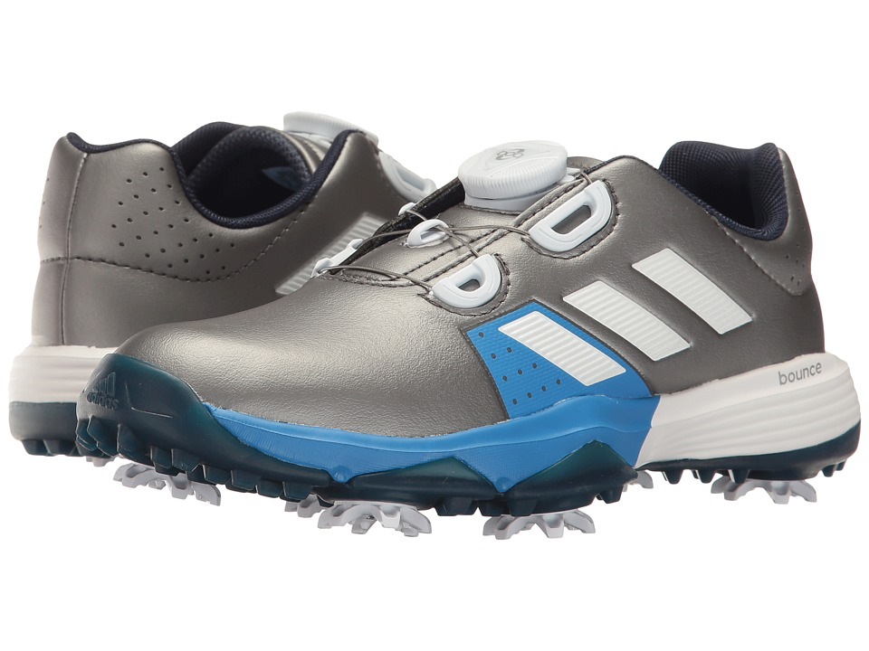 adidas Golf Jr. Adipower Boa (Little Kid/Big Kid) (Dark Silver Metallic/Ftwr White/Blast Blue) Men
