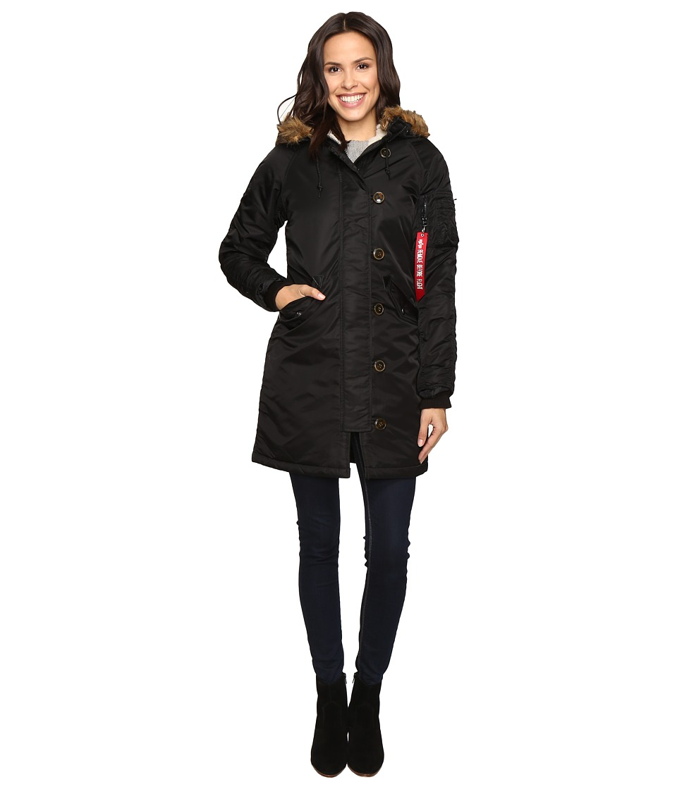 Alpha Industries - Elyse Parka (Black) Womens Jacket