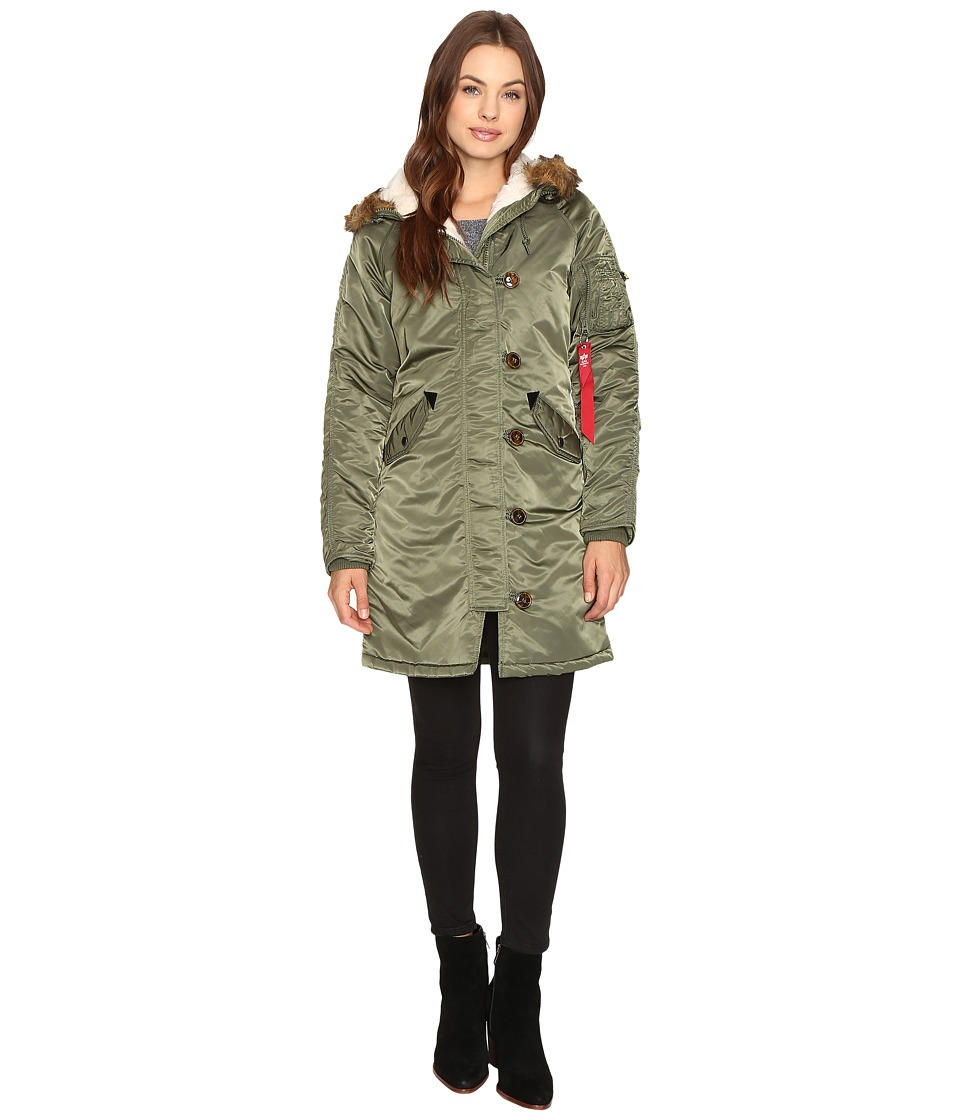 Image of Alpha Industries - Elyse Parka (Sage) Women's Jacket