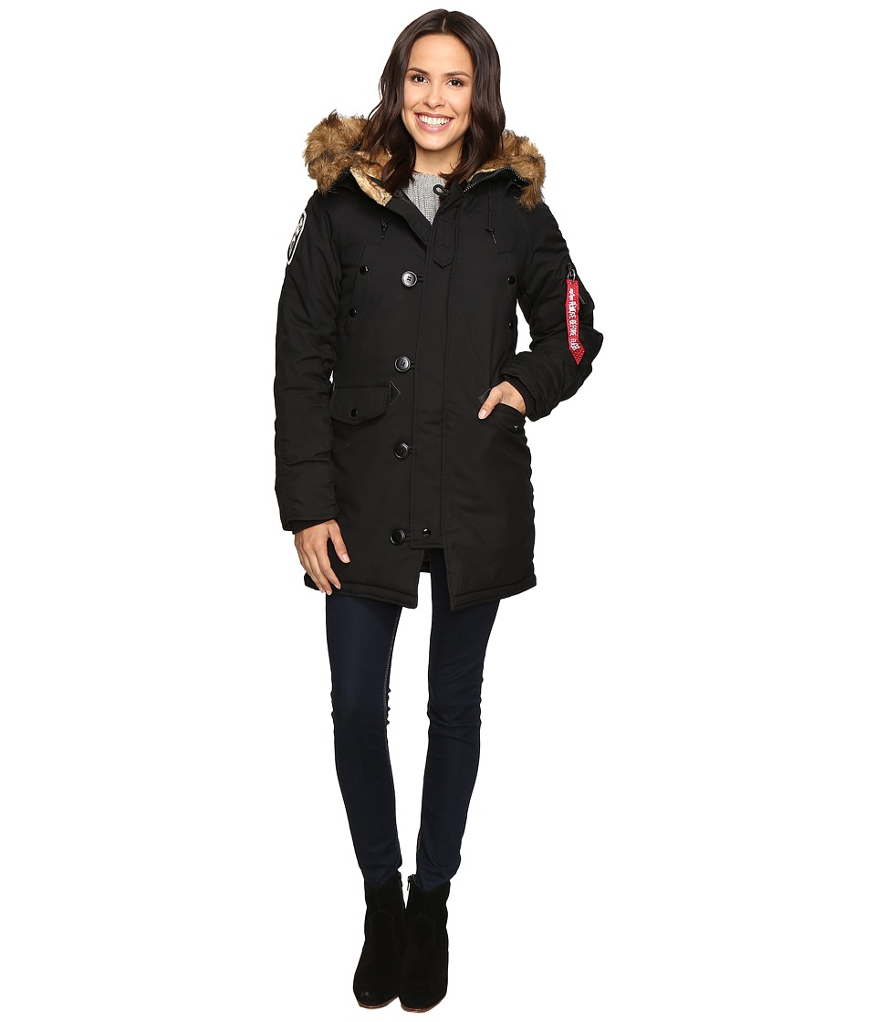 Image of Alpha Industries - Altitude Parka (Black) Women's Coat