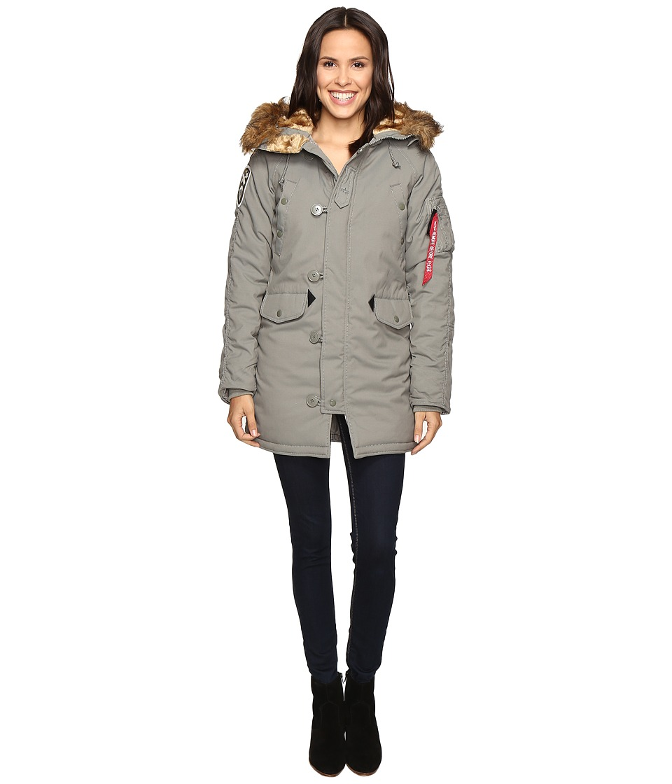 Image of Alpha Industries - Altitude Parka (Alaska Green) Women's Coat