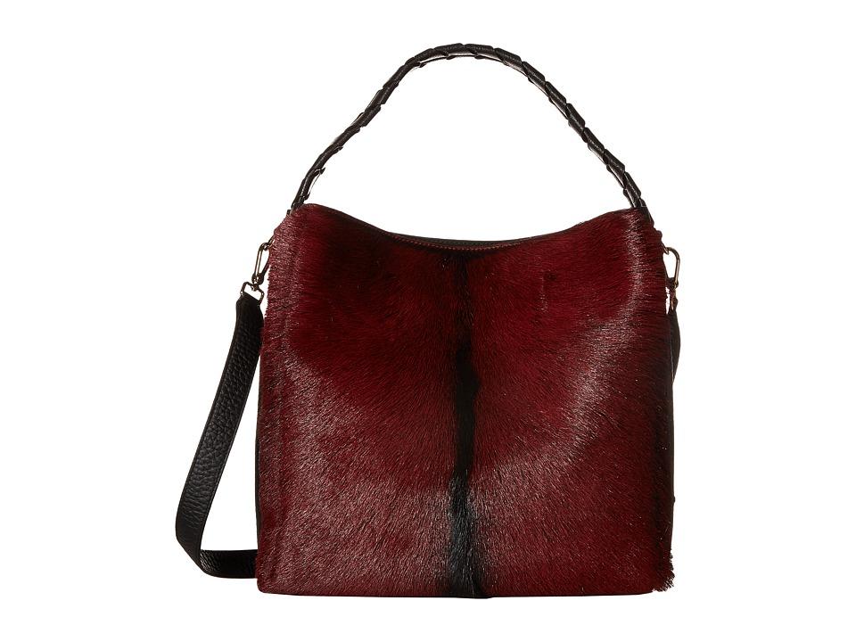 Furla - Capriccio Medium Hobo North/South (Rubino/Onyx) Hobo Handbags