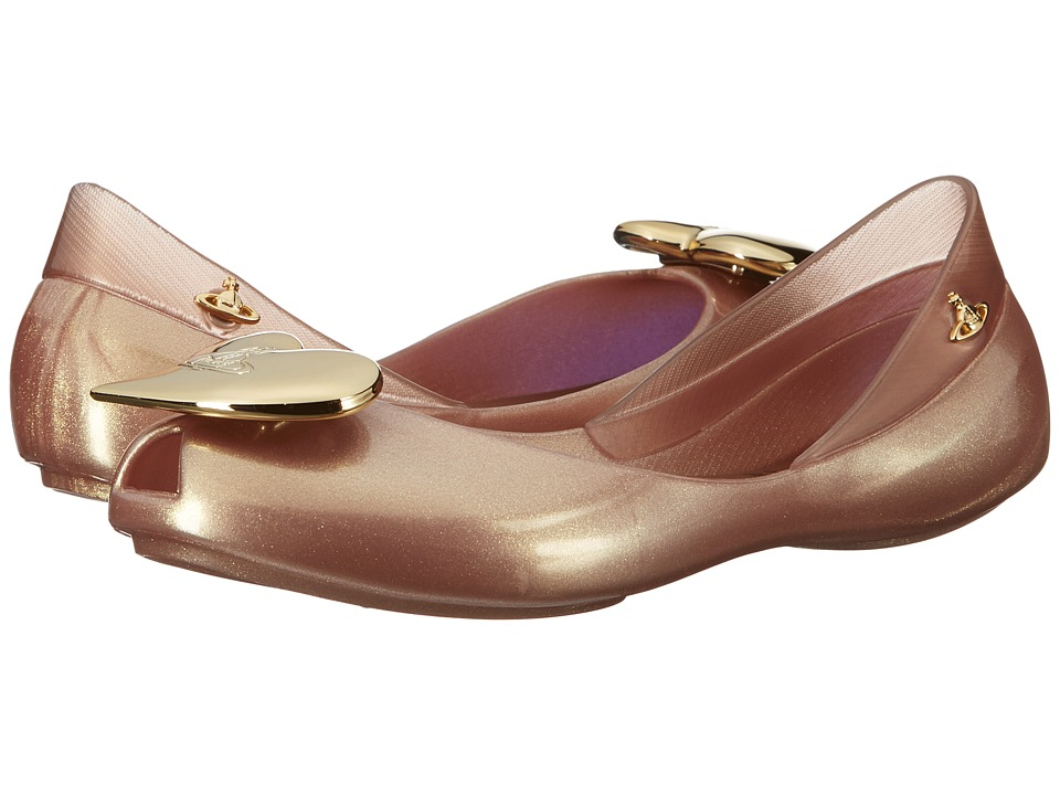 Vivienne Westwood Anglomania + Melissa Queen (Little Kid/Big Kid) (Rose Gold) Women
