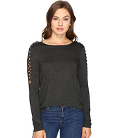 kensie - Drapey French Terry Sweatshirt KSDK3421