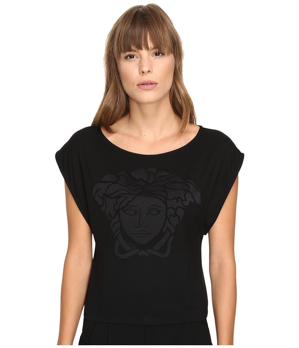 Versace Oversize Logo T-Shirt (Nero) Women
