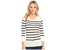 Cotton Blend Sweater with Stripes KS1K5674