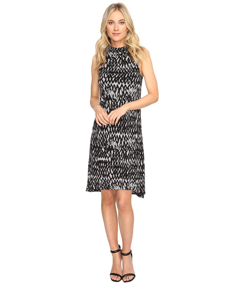 kensie Painted Zigzag Dress KS1K7927 (Heather Grey Combo) Women