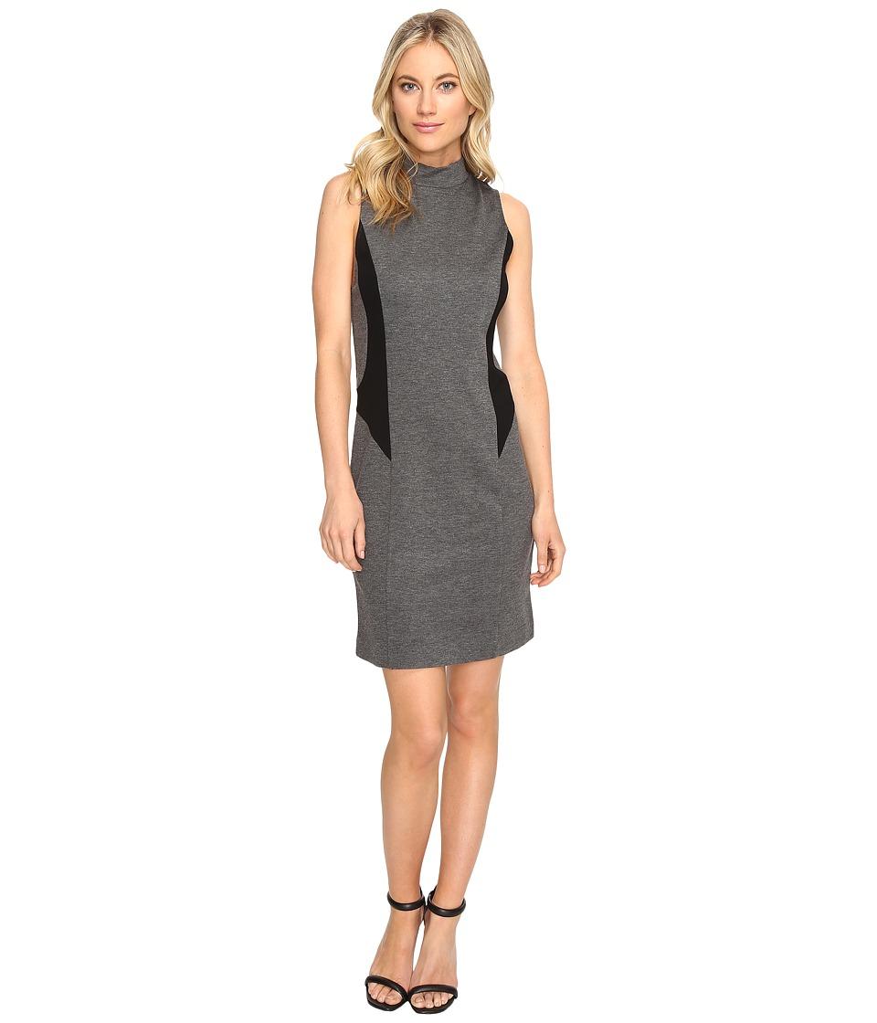kensie Ponte Dress KS1K7910 (Heather Ash Combo) Women