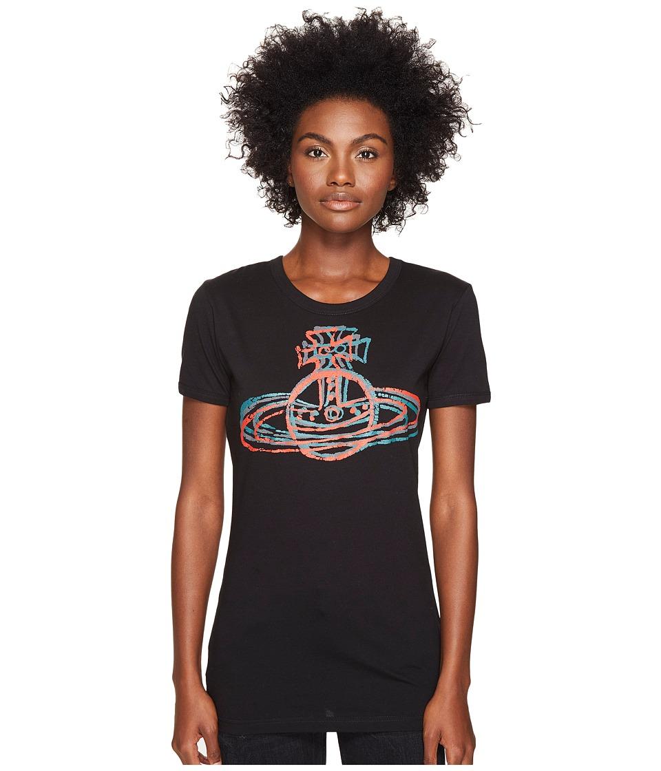 Vivienne Westwood Cracked Orb T-Shirt (Black) Women