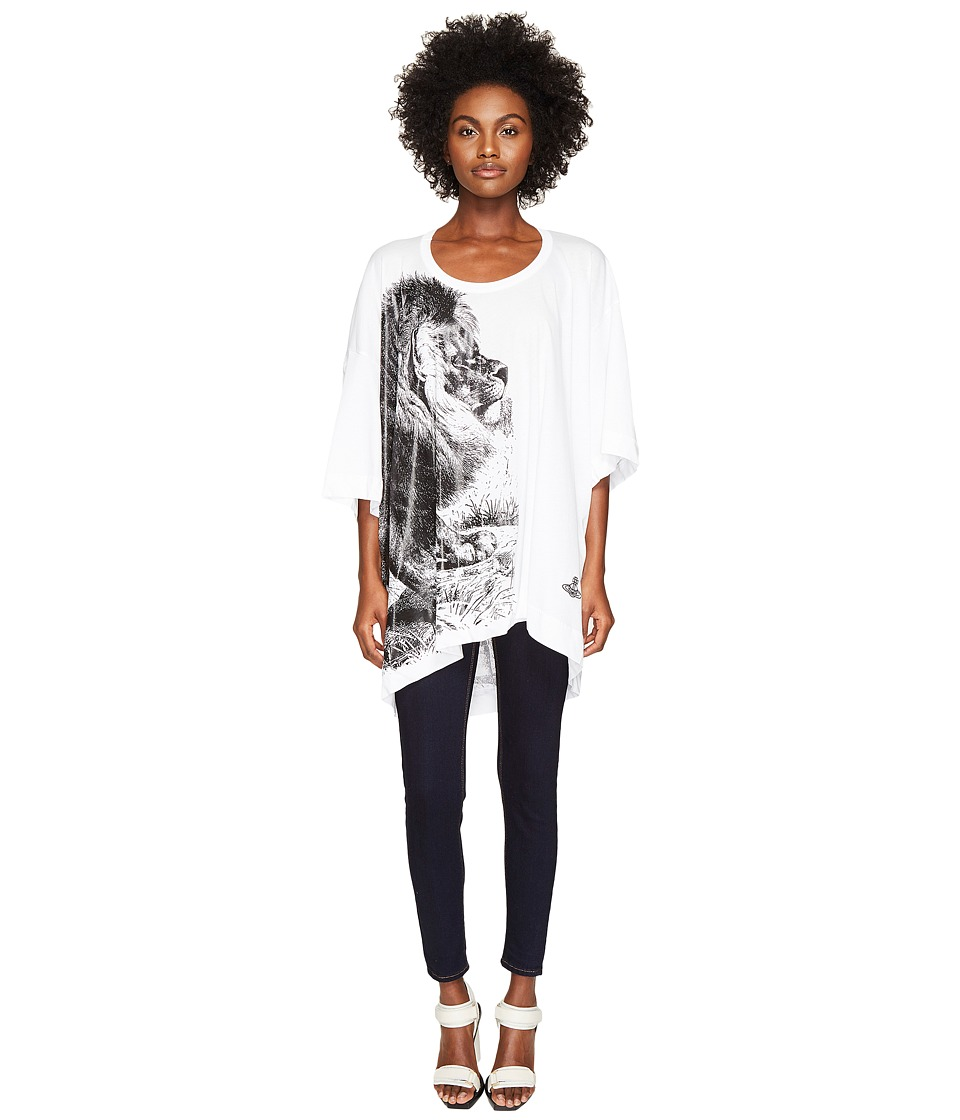 Vivienne Westwood Lion Big Man T-Shirt (Optical White) Women