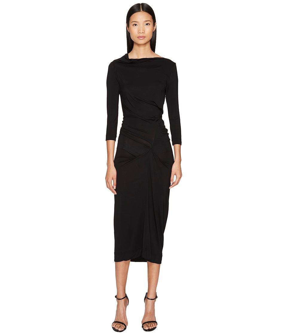 Vivienne Westwood Long Sleeve Taxa Dress (Black) Women