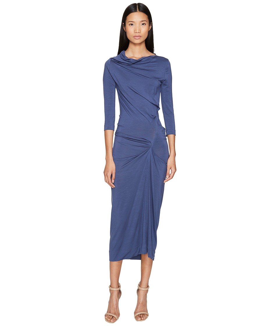Vivienne Westwood Long Sleeve Taxa Dress (Blue) Women