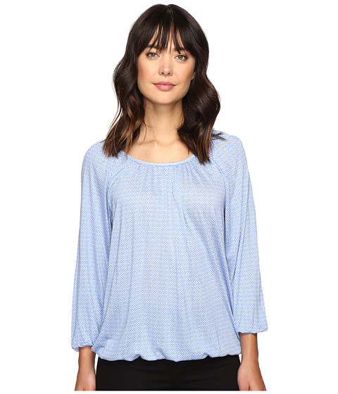 MICHAEL Michael Kors Cheval Lace Peasant Top - Oxford Blue