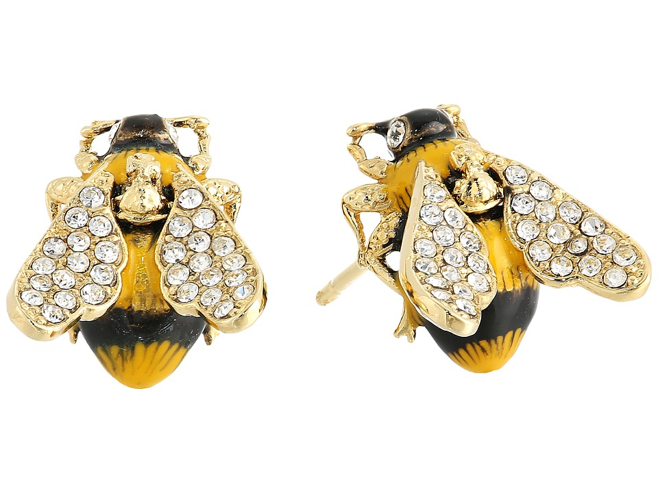 Vivienne Westwood - Bumble Earrings (White/Crystal) Earring