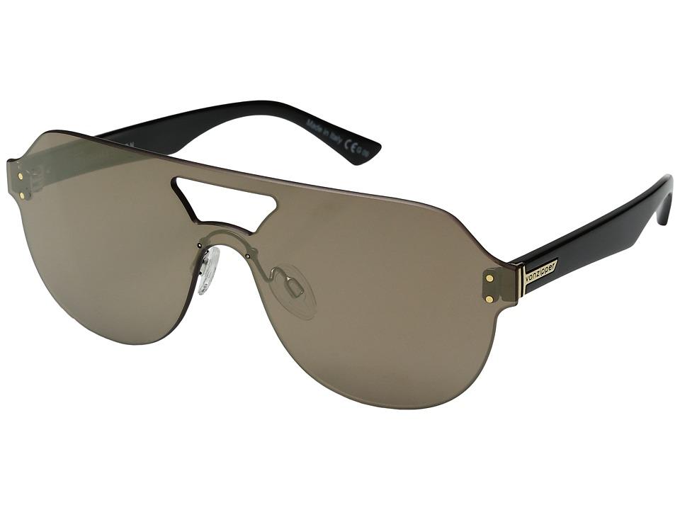 VonZipper Alt-Psychwig (Black Gloss/Flash Gold) Fashion Sunglasses