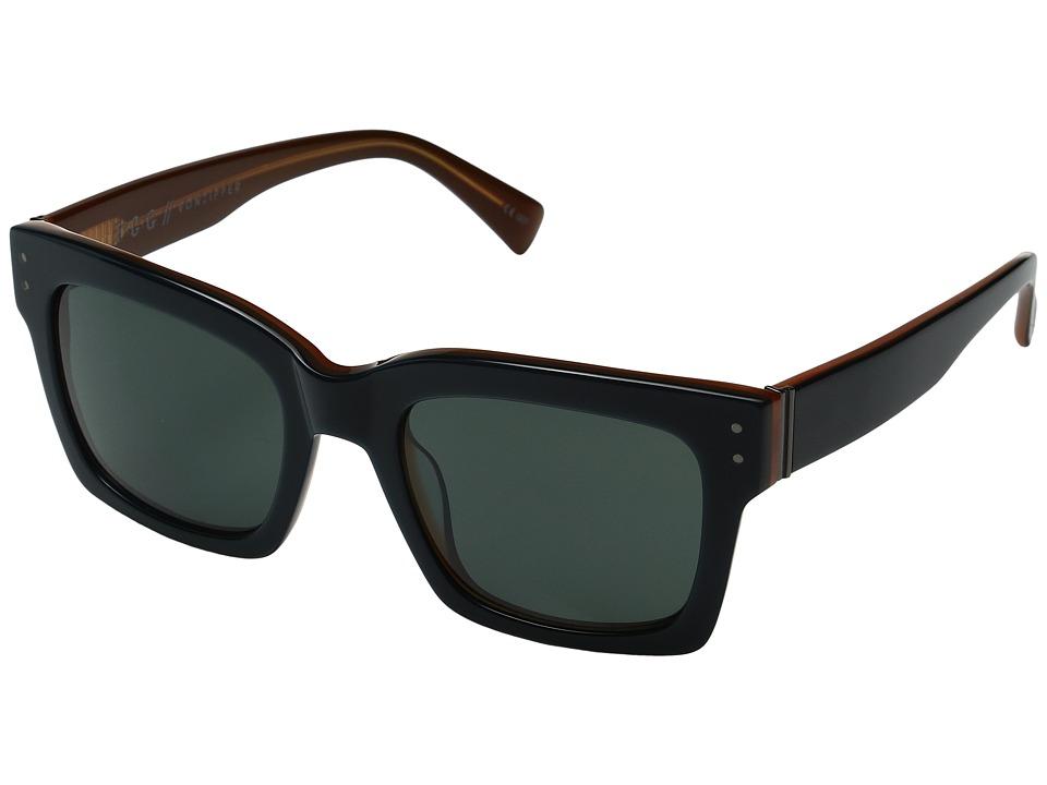 VonZipper Roscoe (Navy/Orange/Vintage Grey) Fashion Sunglasses
