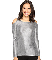 MICHAEL Michael Kors - Foil Long Sleeve Cold Shoulder
