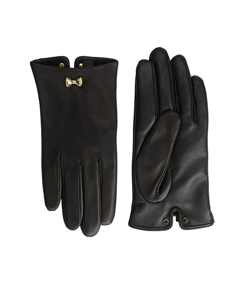 Ted Baker Avia Bow Wrist Detail Leather Gloves