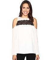 MICHAEL Michael Kors - Lace Trim Cold Shoulder Top