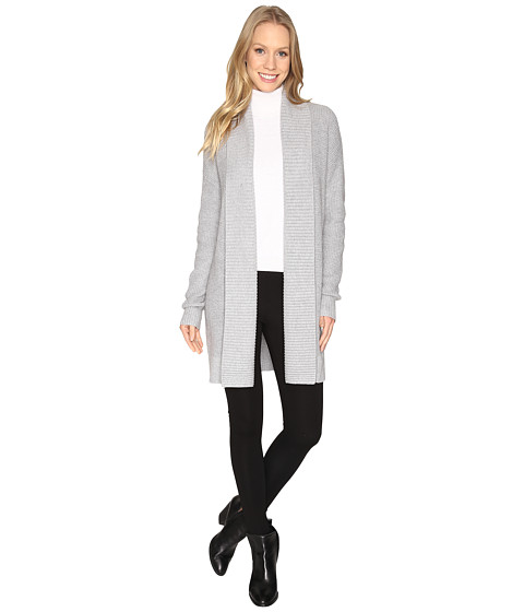 MICHAEL Michael Kors Long Waffle Cardigan - Pearl Heather