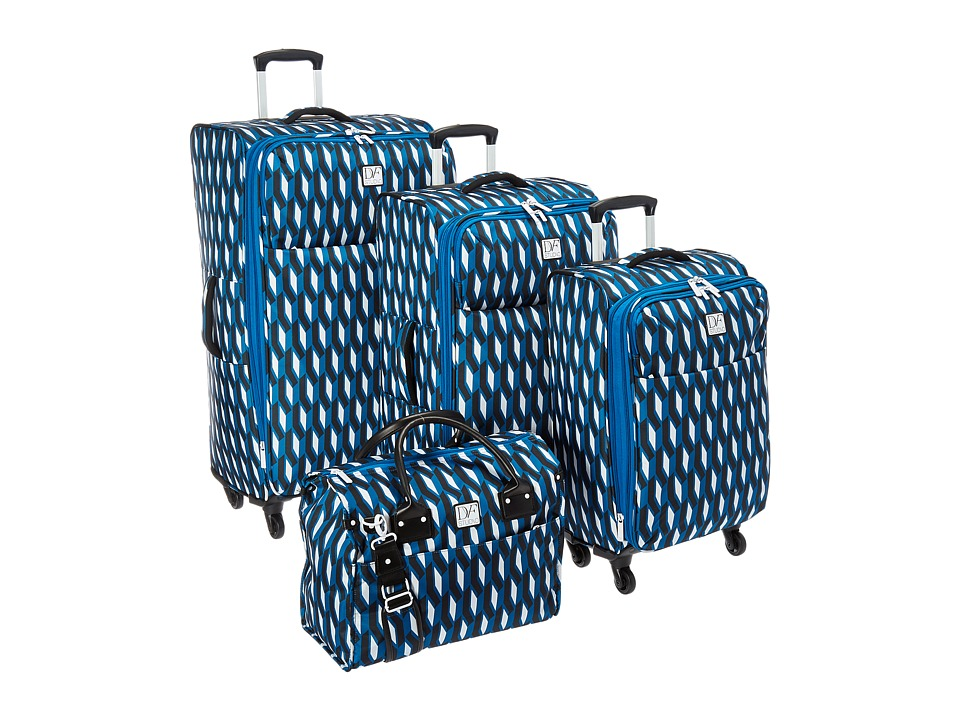 Diane von Furstenberg - Lilah Four-Piece Set (Indigo/Black/White) Luggage