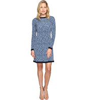 MICHAEL Michael Kors - Textured Bayeux Long Sleeve Dress