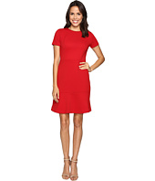 MICHAEL Michael Kors - Short Sleeve Crew Neck Flounce Dress