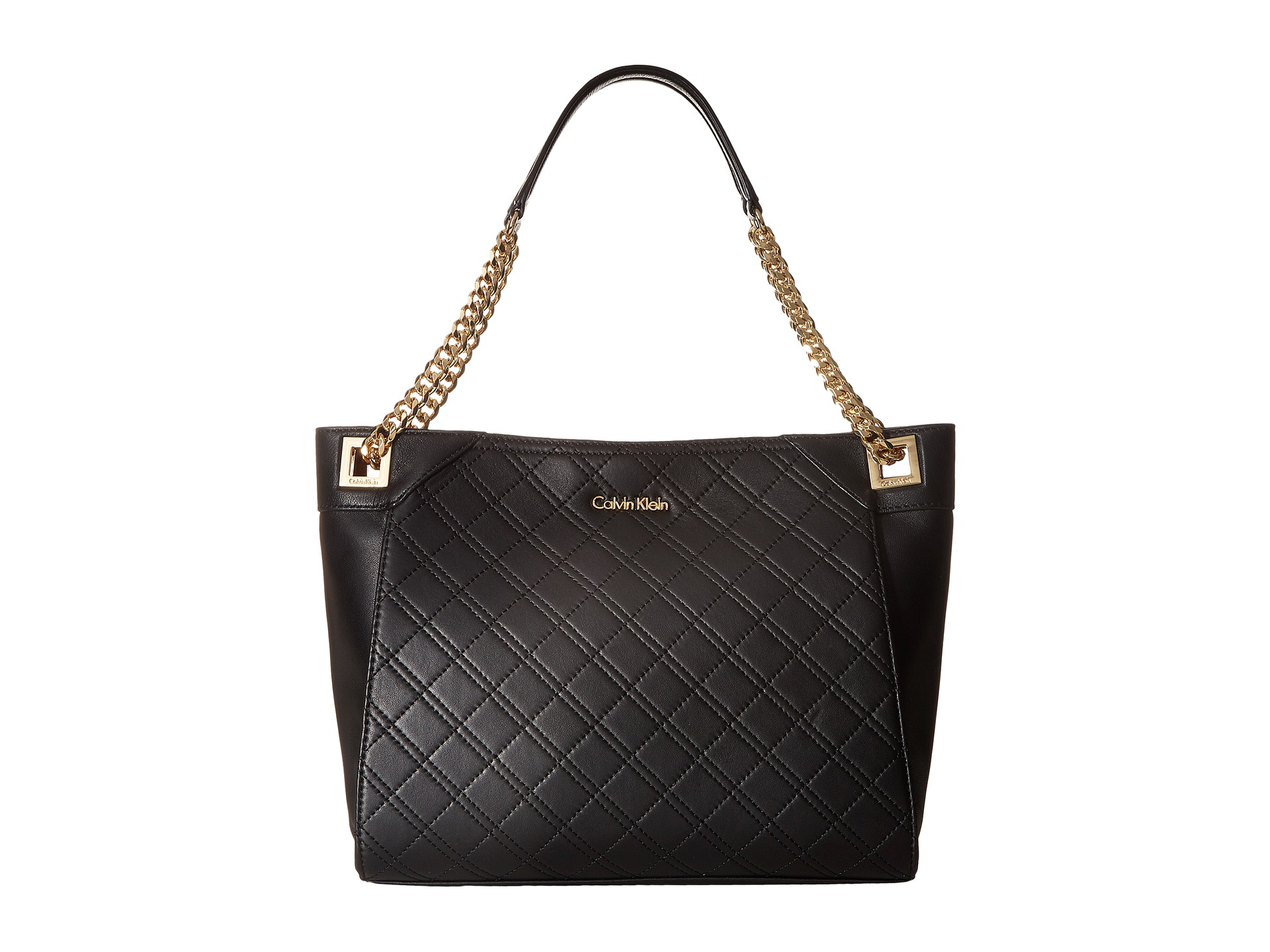 Calvin Klein Quilted Lamb Tote Zappos Com Free Shipping