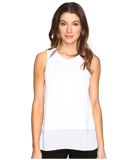MICHAEL Michael Kors Sleeveless Crew Stud Woven Mix