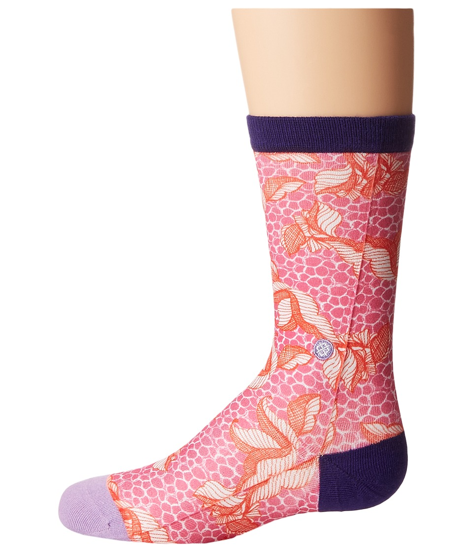 Stance - Purdy (Toddler/Little Kid/Big Kid) (Pink) Women's Crew Cut Socks Shoes
