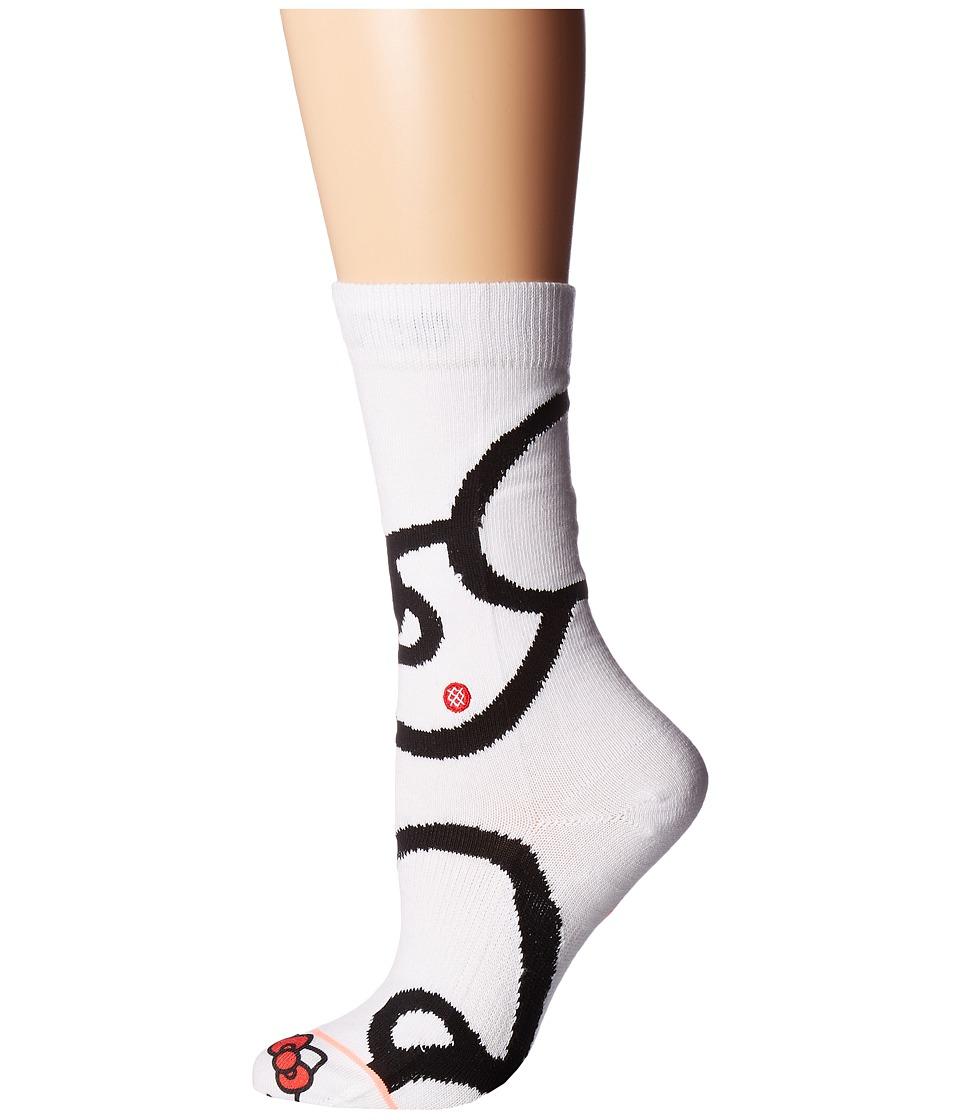 Stance Bows (White) Women's Crew Cut Socks Shoes
