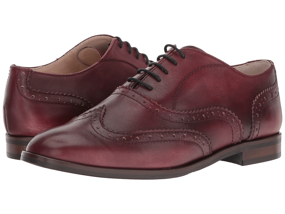 Massimo Matteo Oxford Wing Tip (Bordo) Women's Lace Up Wing Tip Shoes