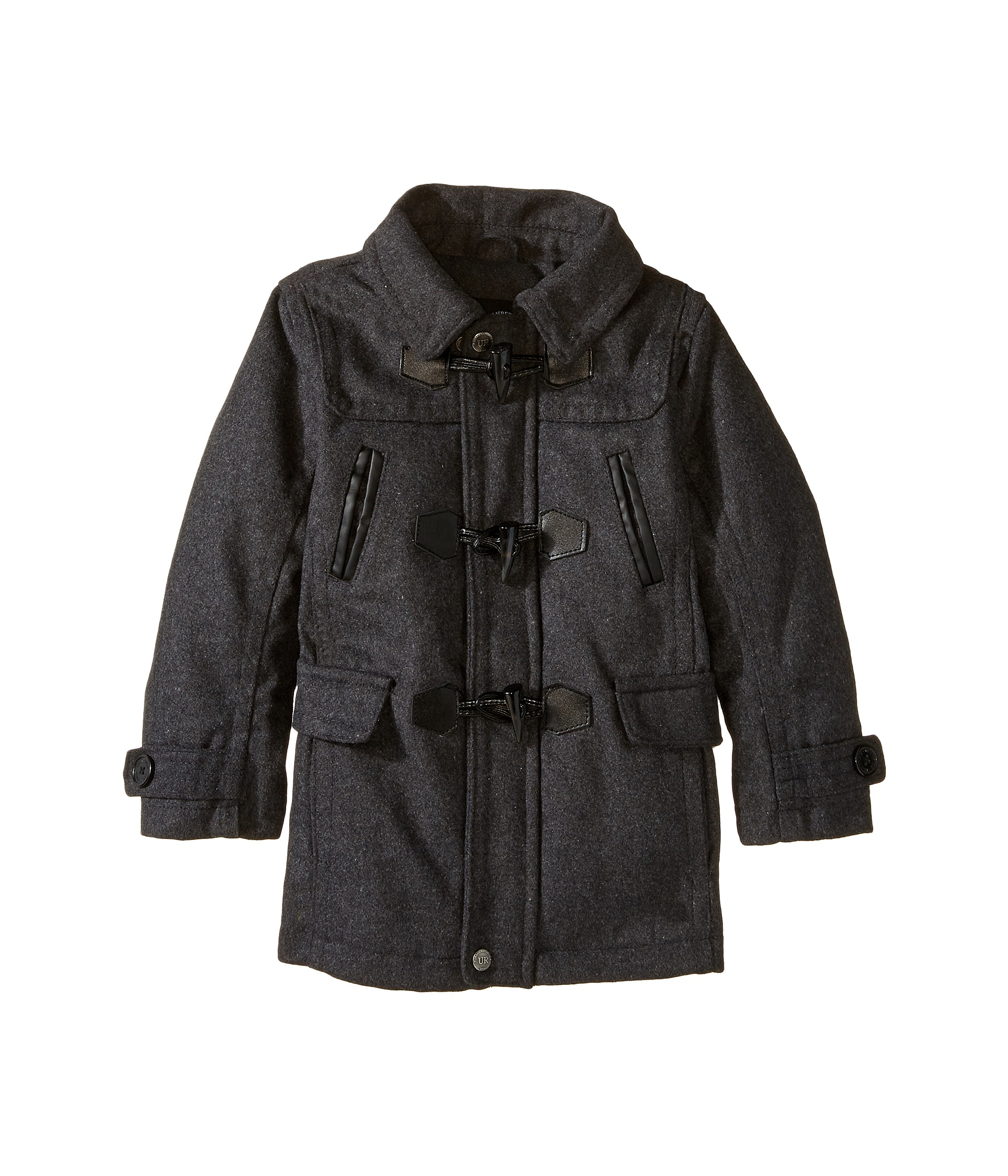 Girls' Black Toggle Coat is Warm with Fleece LiningThe girls' black hooded winter toggle coat combines comfort, warmth and great style. While you e.