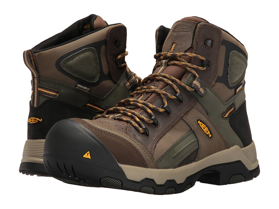 Keen Utility Davenport Mid Waterproof (Shitake/Forest Night) Men