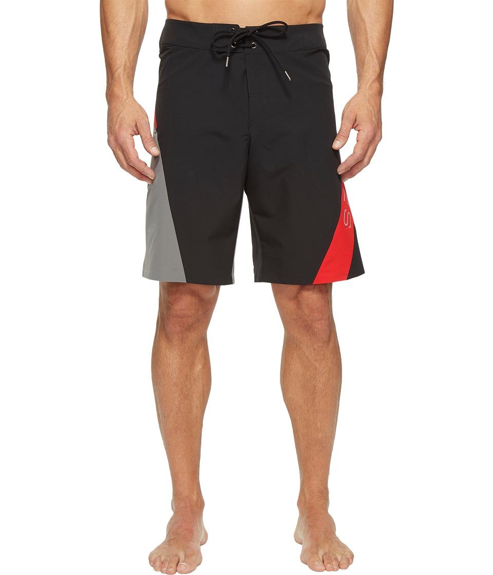 Spyder Phenom Boardshorts (Black/Image/Red) Men