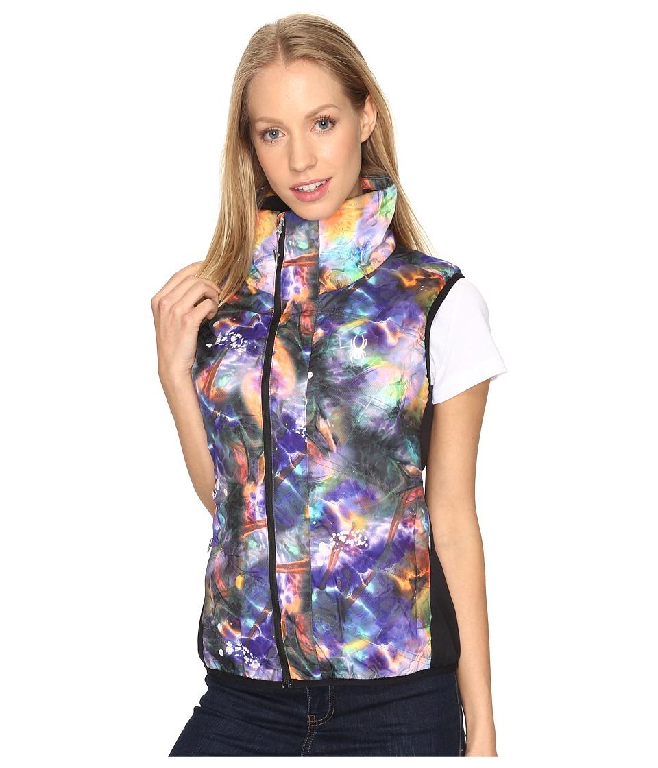 Spyder Exit Insulator Vest (Tie-Dye Print/Black) Women