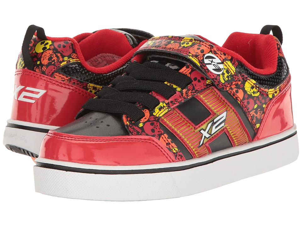 Heelys Bolt Plus X2 (Little Kid/Big Kid) (Red/Black/Yellow/Skulls) Boys Shoes